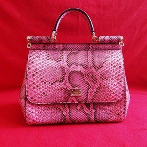 Women s Dolce And Gabbana Snakeskin Handbag on Poshmark f3ad83407c96e